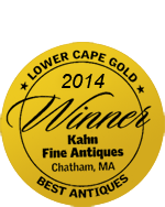 Lower Cape Cod Best Antiques Gold Award for 2014