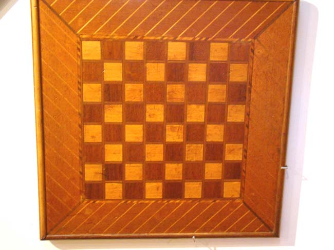 click to view larger image of A Beautiful double sided inlaid marquetry Games Board circa 1890-1910