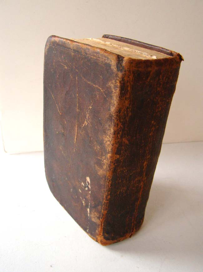 click to view larger image of An 18th century leather bound Bible circa 1775 printed by W. Jackson & A. Hamilton for the Clarendon Press at Oxford University.