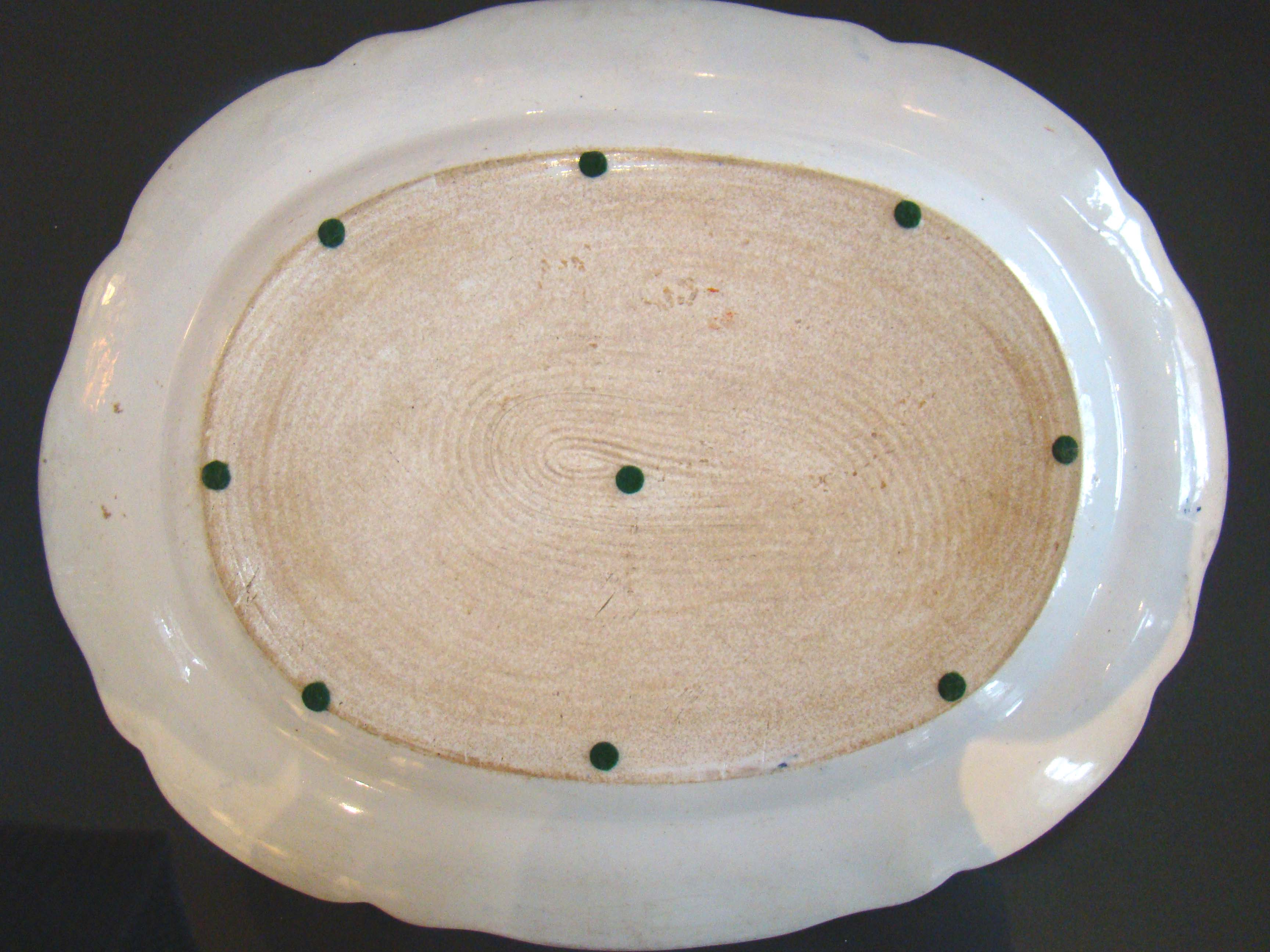 click to view larger image of An early 19th century Mason's Stoneware serving Platter in the Japan Basket pattern circa 1820