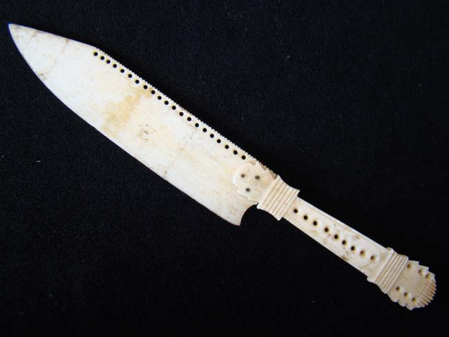 click to view larger image of A 19th century Carved Bone Letter Opener