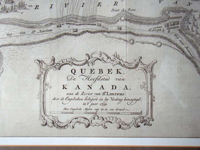 click to view larger image of The Siege of Quebec of 1759 published in the Grand Magazine of Universal Intelligence in Oct. 1759