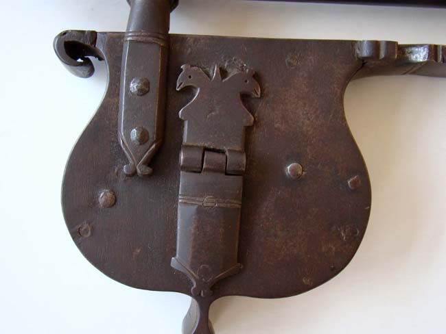 click to view larger image of A wonderful 18th century iron gate lock