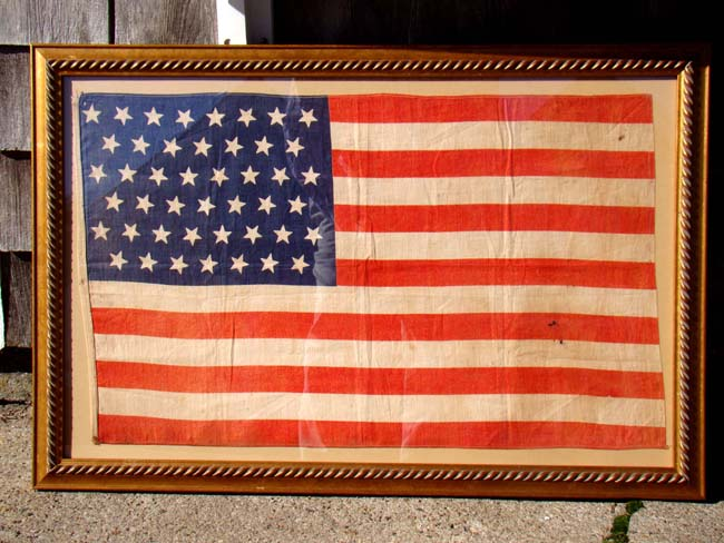 click to view larger image of An attractive 45 star American Flag made official on July 4, 1896
