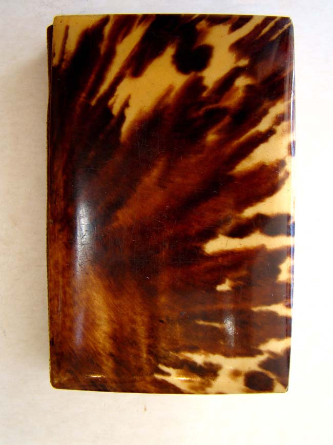 click to view larger image of A fine silver mounted Tortoiseshell calling card case circa 1880