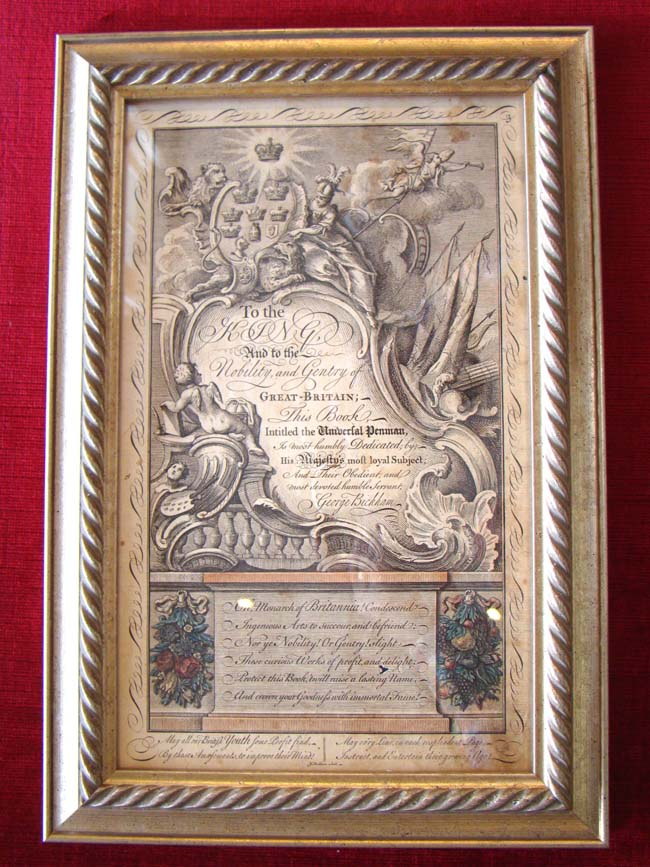 click to view larger image of The RARE original engraved Frontispiece to the epic book entitled