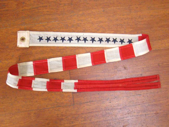 click to view larger image of An exceptionally fine World War II United States Coast Guard Commissioning Pennant circa 1943