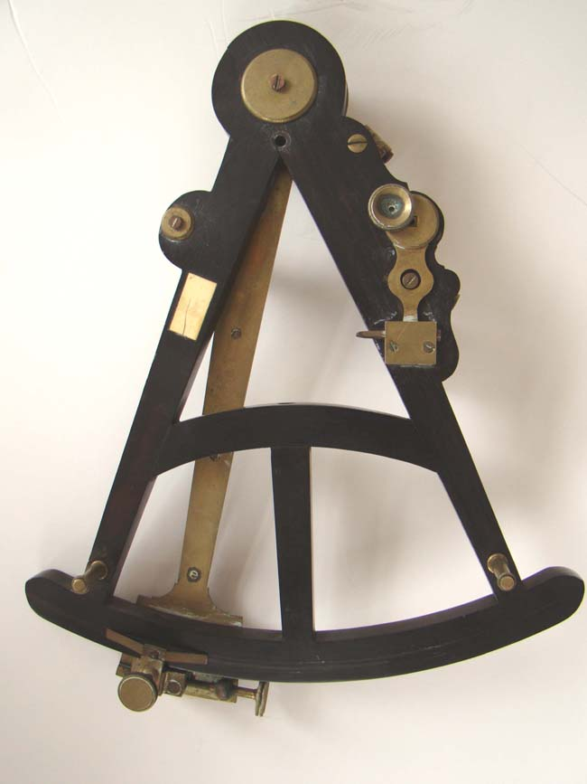 click to view larger image of An early 19th century ebony framed sextant by Thomas Jones of London