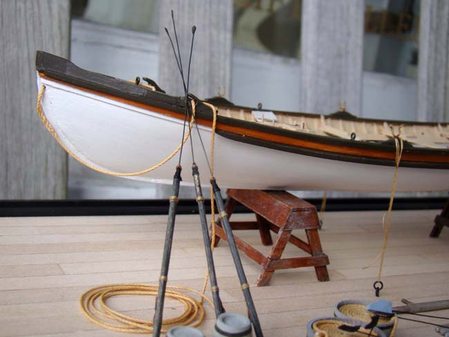 click to view larger image of An exceptionally well made scratch built model of a circa 1870