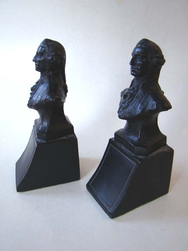 click to view larger image of A pair of George Washington bookends circa 1930