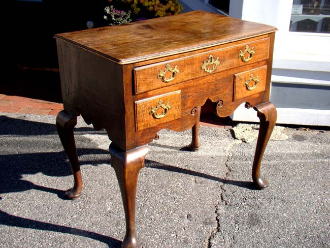 click to view larger image of An English George I period walnut and oak Dressing Table circa 1720