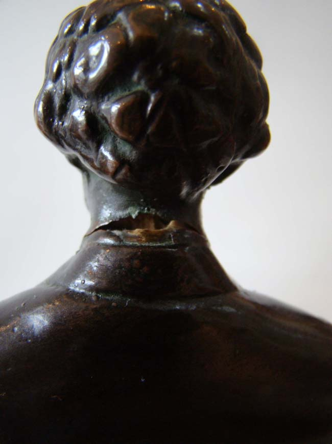 click to view larger image of A large and fine pair of Abraham Lincoln bookends made by the Pompeian Bronze Company circa 1925