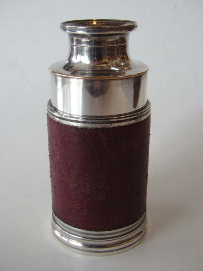 click to view larger image of A fine silver mounted Monocular by William Gilbert & Gabriel Wright, London, circa 1790-1805