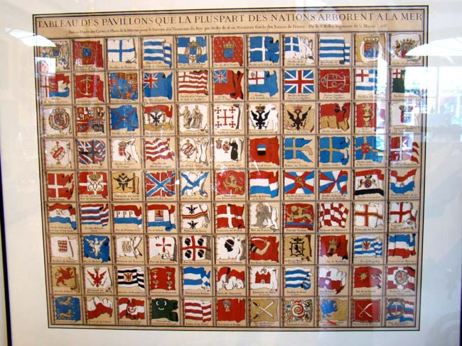 click to view larger image of Maritime Flags of the World printed by Nicholas Bellin, Engraver to the King, Paris1756