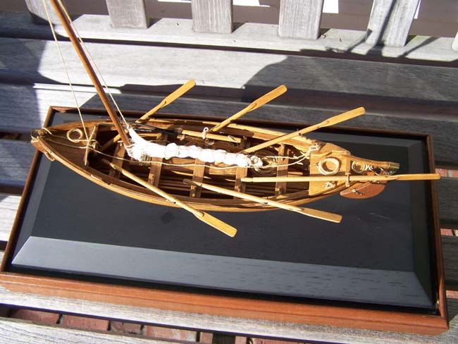 click to view larger image of A highly detailed scale model of a 19th century whaleboat