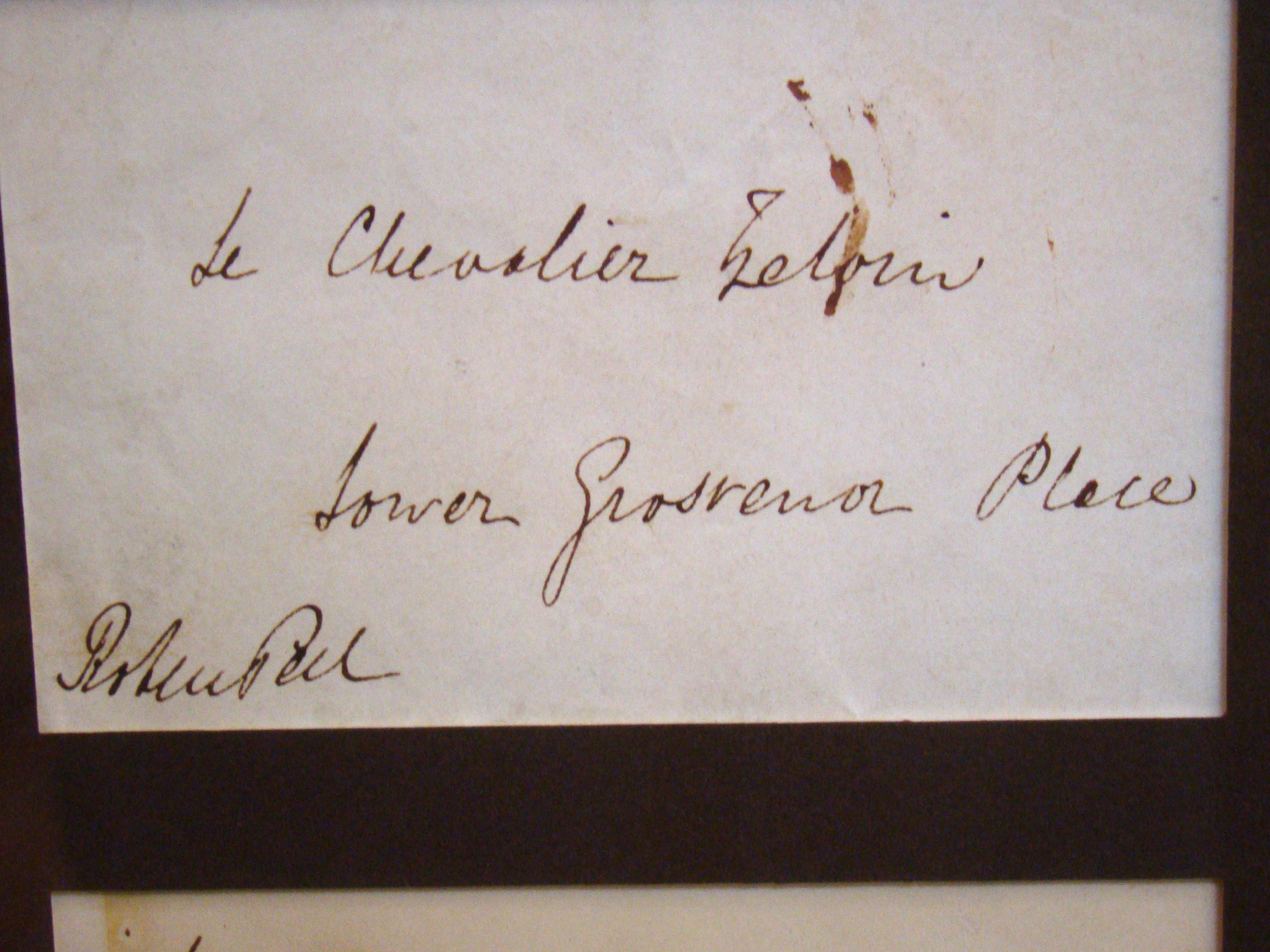 click to view larger image of A letter signed on Jan.1, 1843 by Sir Robert Peel who served twice as Prime Minister of Great Britain under Queen Victoria.