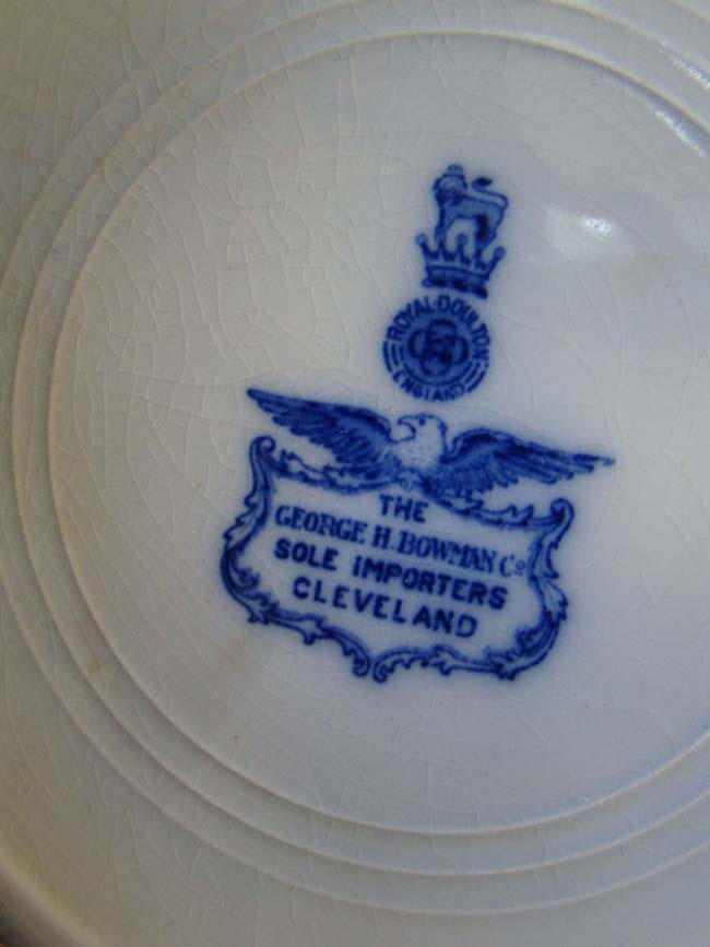 click to view larger image of A George Washington commemorative plate made by Royal Doulton circa 1900