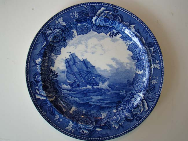 click to view larger image of A Wedgwood souvenir plate depicting the