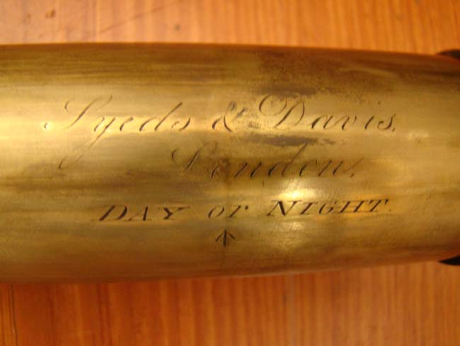 click to view larger image of A fine early 19th century English single-draw spyglass by John Syeds and John Davis circa 1825