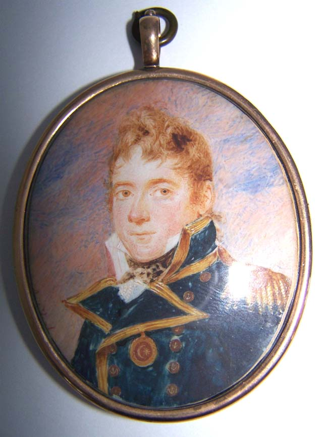 click to view larger image of A fine Portrait Miniature of Capt. Hugh Cameron, One of Nelson's Captains, circa 1810