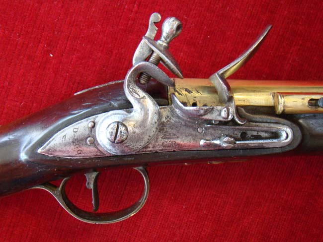 click to view larger image of A fine brass barreled coaching flintlock blunderbuss by Durs Egg circa 1780-1790
