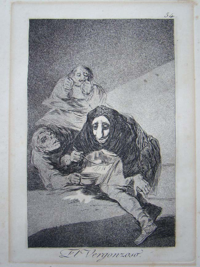 click to view larger image of Francisco Goya (1746-1828)etching from his series entitled