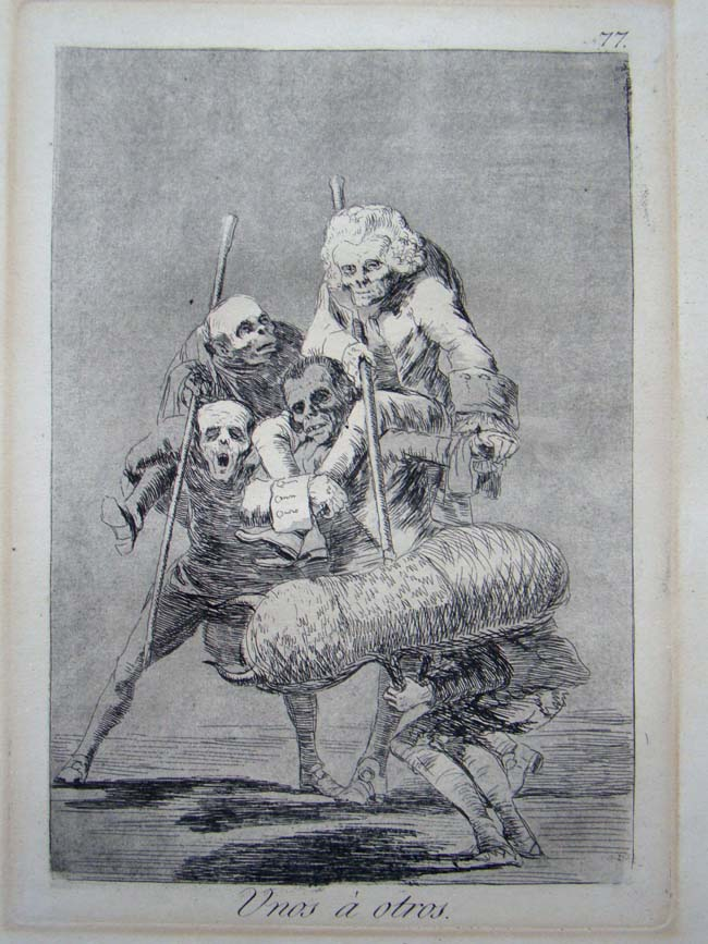 click to view larger image of Francisco Goya--original etching from