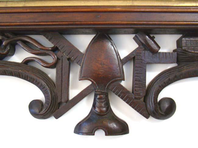large mirror antique walnut a rare carved walnut masonic mirror circa 1868 carved by john
