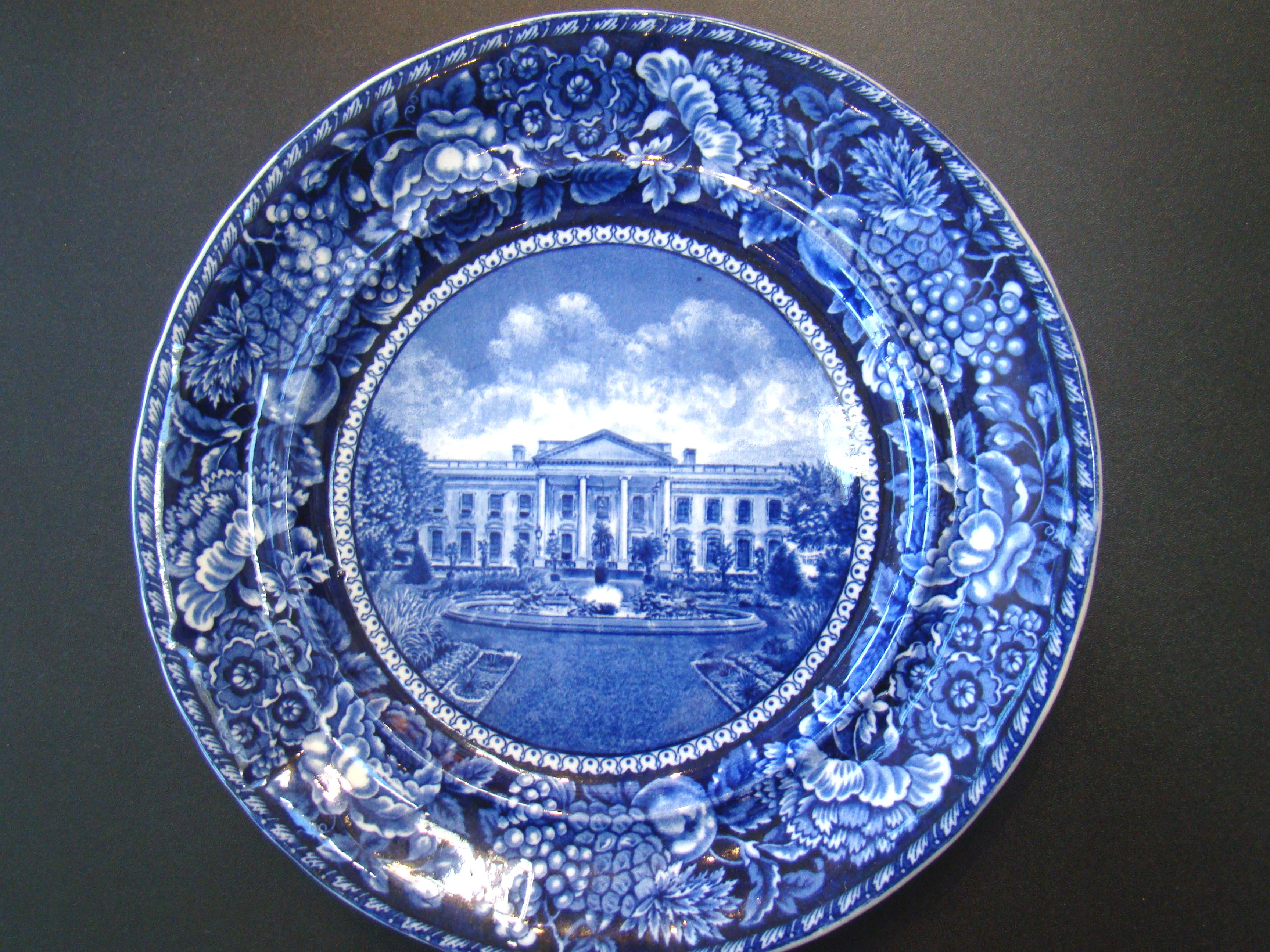 click to view larger image of An early 20th century Commemorative plate depicting The White House by Rowland & Marsellus circa 1906