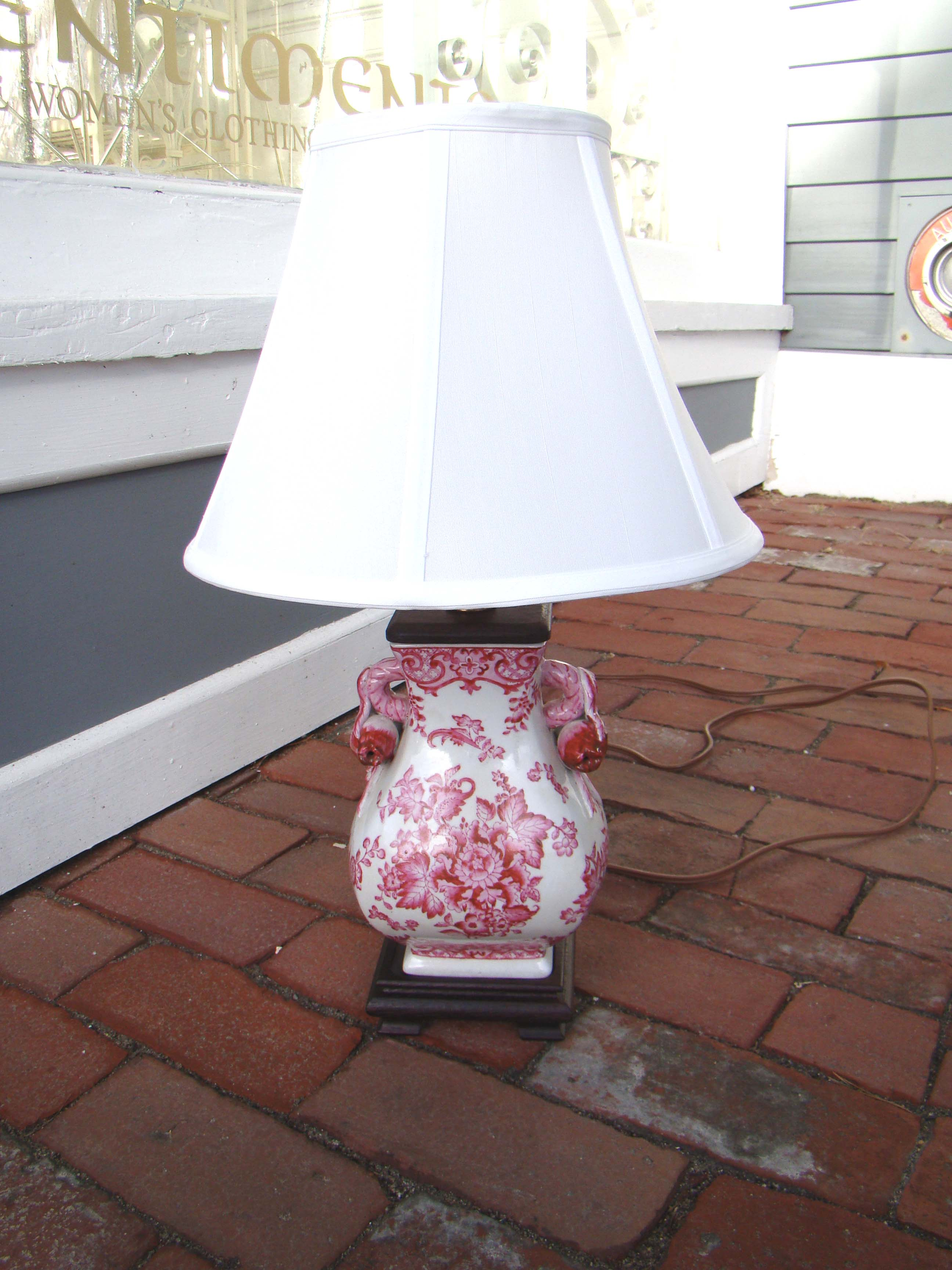 click to view larger image of A gorgeous Chinese pomegranate pattern table lamp.
