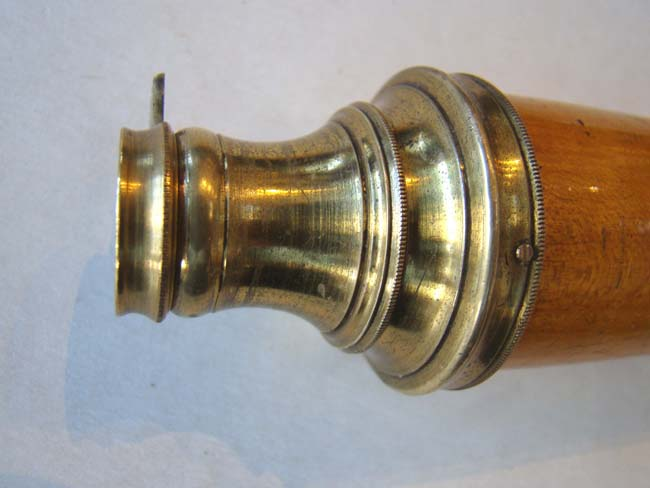 click to view larger image of An exceptionally fine, rare  and small 18th century single-draw spyglass circa 1740-1770