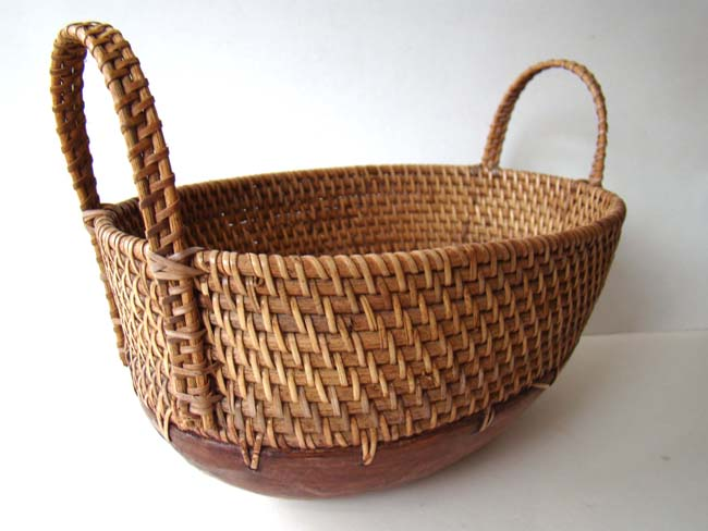 click to view larger image of A North Carolina made Egg Basket
