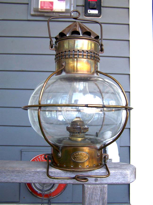 click to view larger image of A British Admiralty Lamp made by Davies of London circa 1900