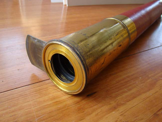 click to view larger image of A fine early 19th century sea captains' single draw telescope circa 1820