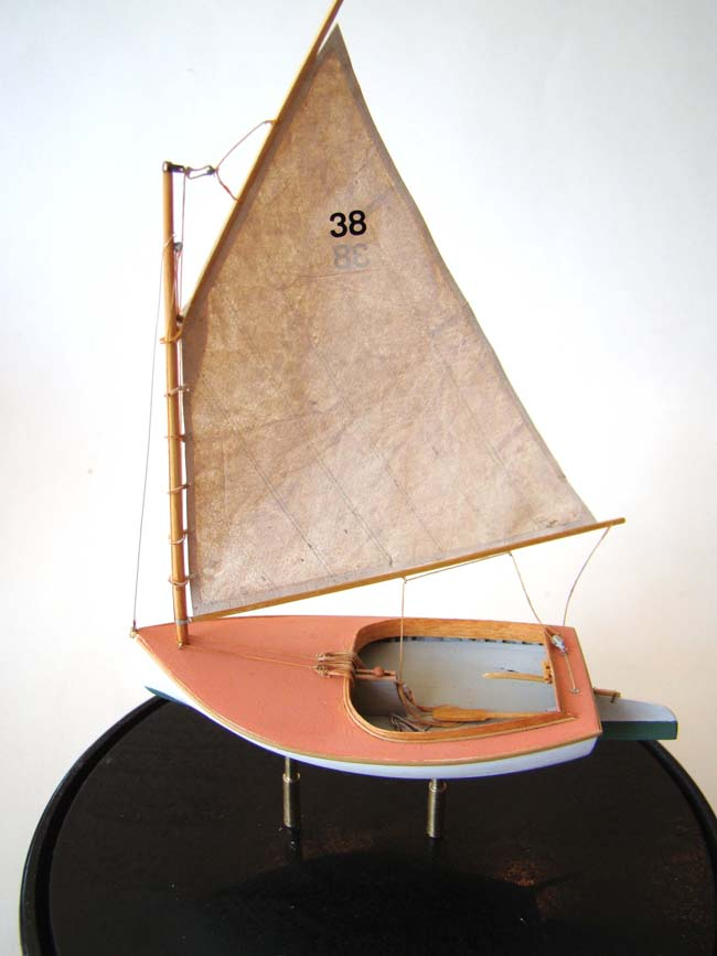 click to view larger image of A Scratch Built Miniature BEETLE CATBOAT circa 1921 in 1:48 scale