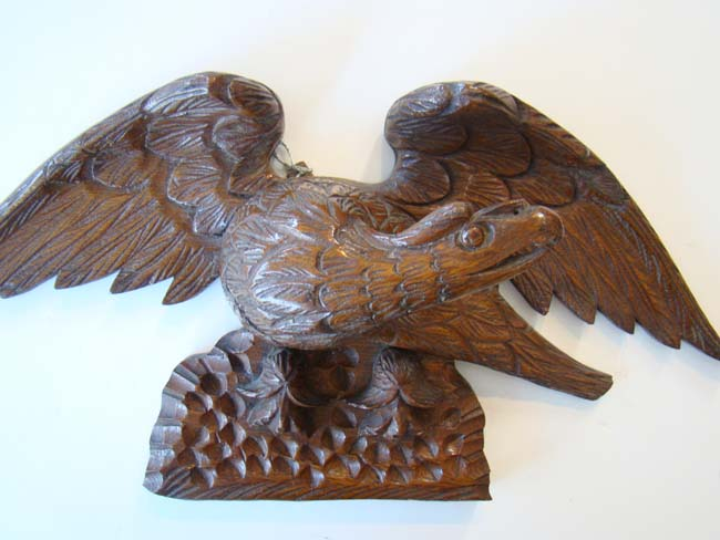 click to view larger image of A wonderful carved American eagle circa 1870