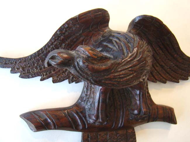click to view larger image of A charming small antique 19th century carved American eagle circa 1870