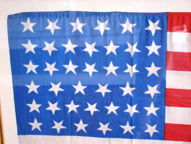 click to view larger image of A RARE 39 star U.S. flag made in 1889
