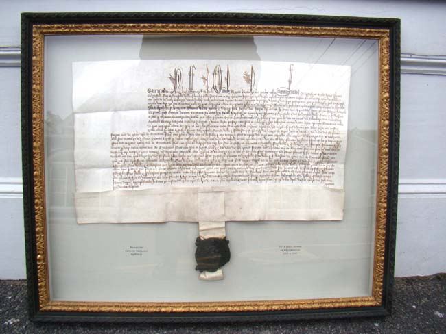 click to view larger image of A RARE Property transfer document from the reign of King Henry VII (1485-1509) of England dated July 4, 1502