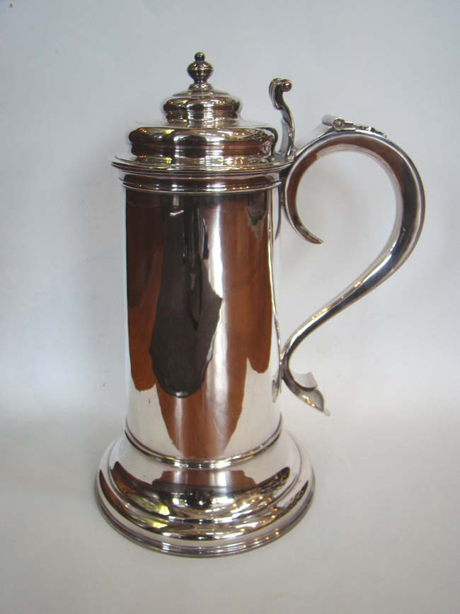 click to view larger image of A beautiful 18th century 'style' silver plated flagon by the Gorham Mfg.Company circa 1880.