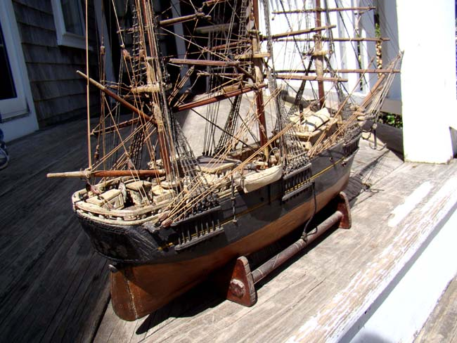 click to view larger image of An antique ship model circa 1870-1880