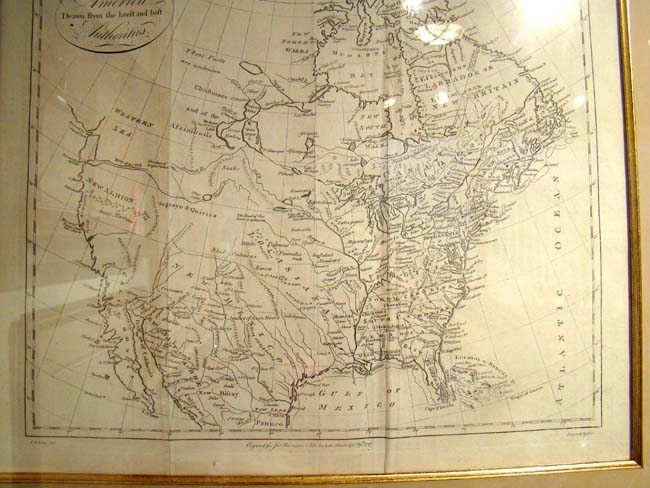 click to view larger image of Thomas Kitchin's Map of North America published in 1787