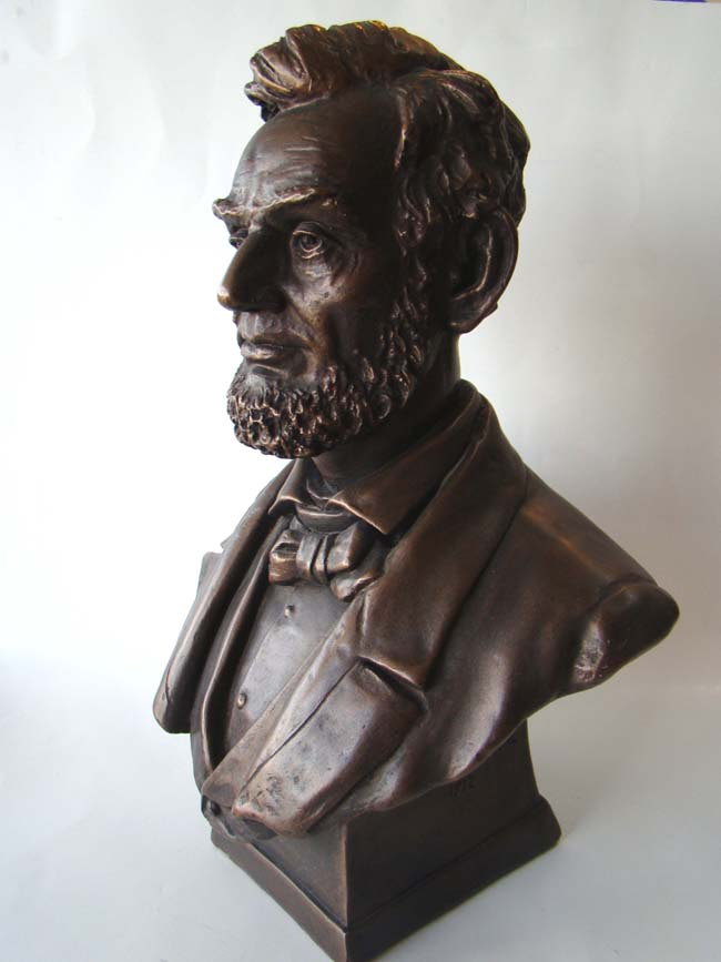 click to view larger image of A fine vintage bust of Abraham Lincoln.