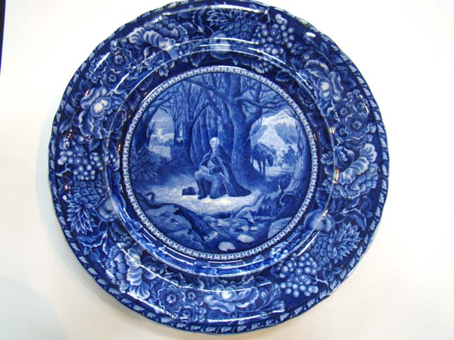click to view larger image of A fine historical Staffordshire plate circa 1905 depicting
