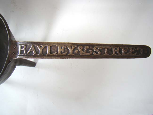 click to view larger image of A rare English bronze cooking pot signed BAYLEY & STREET circa 1720-1750