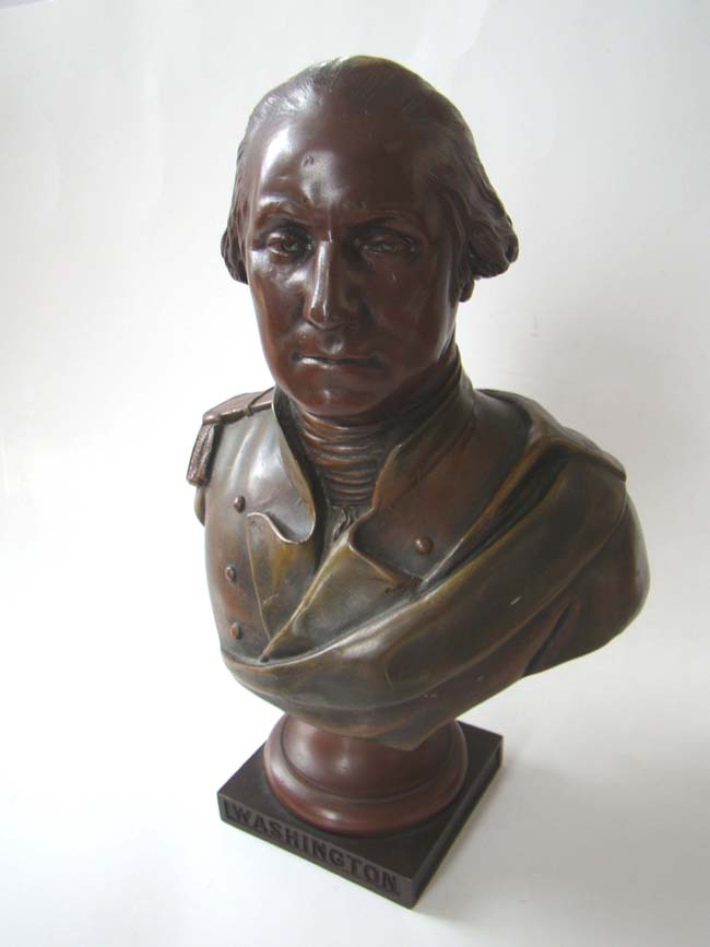 click to view larger image of A fine Bust of Gen. George Washington made in France circa 1880