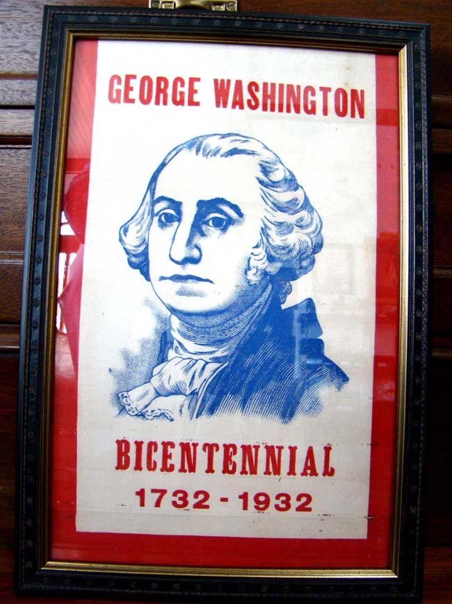 click to view larger image of A rare GEORGE WASHINGTON bicentennial banner dated 1732-1932