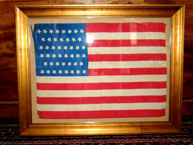 click to view larger image of A good 46 star American flag circa 1908-1912