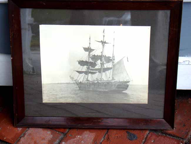 click to view larger image of A rare original photo of the New Bedford Whale ship