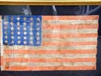 click to view larger image of A RARE American 36 star flag circa 1865-1867